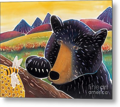 Bear With A Sweet Tooth Metal Print by Harriet Peck Taylor