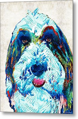 Bearded Collie Art - Dog Portrait By Sharon Cummings Metal Print by Sharon Cummings