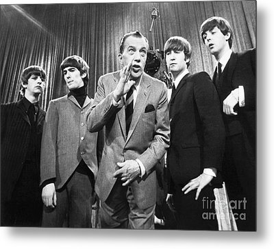 Beatles And Ed Sullivan Metal Print by Granger