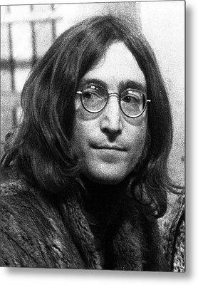 Beatles - John Lennon Metal Print by Chris Walter
