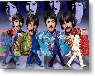 Beatles - Walk Away Metal Print by Ross Edwards