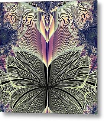 Beautiful Butterfly Ballet Fractal Metal Print by Rose Santuci-Sofranko