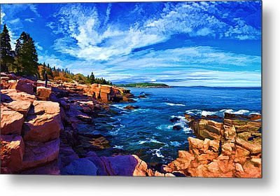 Beautiful Day At Acadia Metal Print by Bill Caldwell -        ABeautifulSky Photography
