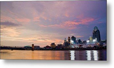 Beautiful Ohio River Sunset Metal Print by Randall Branham