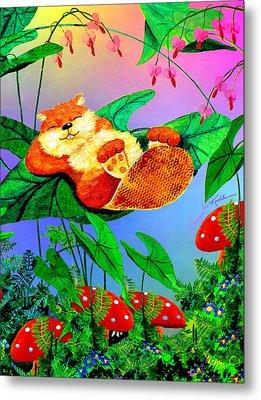 Beaver Bedtime Metal Print by Hanne Lore Koehler