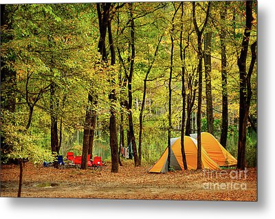Beaver's Bend Camping Metal Print by Tamyra Ayles