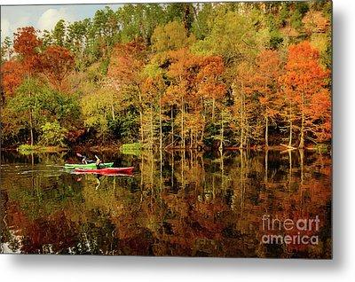 Beaver's Bend Canoeing Metal Print by Tamyra Ayles