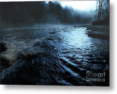 Beaver's Bend Fog Metal Print by Tamyra Ayles