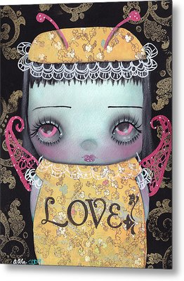 Bee Girl Metal Print by  Abril Andrade Griffith