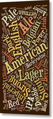 Beer Lover Cell Case Metal Print by Edward Fielding