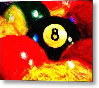 Behind The Eight Ball Metal Print by Wingsdomain Art and Photography