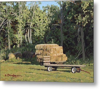 Behind The Grove Metal Print by Bruce Morrison