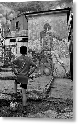Belfast Boy In Memory Of George Best  Metal Print by Donovan Torres