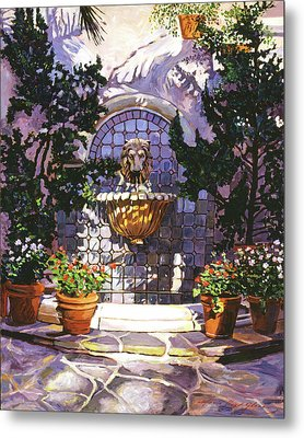 Bellagio Fountain Metal Print by David Lloyd Glover
