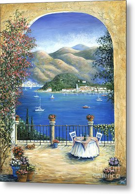 Bellagio Lake Como From The Terrace Metal Print by Marilyn Dunlap