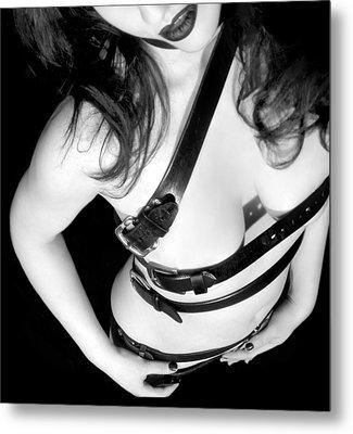 Belted 1 - Self Portrait Metal Print by Jaeda DeWalt