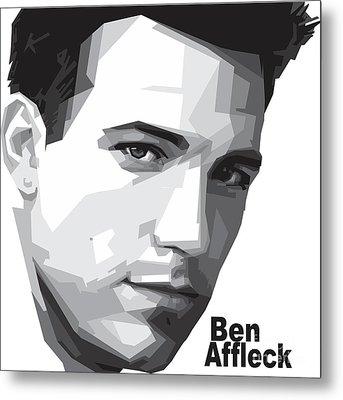 Ben Affleck Portrait Art Metal Print by Madiaz Roby