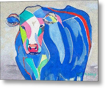 Ben Jerrys Cow Fantasy Metal Print by Sue Prideaux