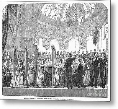 Benefit Concert, 1853 Metal Print by Granger