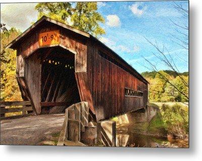 Benetka Road Covered Bridge Metal Print by Dean Wittle