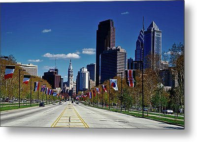 Benjamin Franklin Parkway - Philadelphia Metal Print by Mountain Dreams