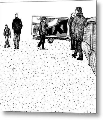 Berlin Streets Metal Print by Karl Addison