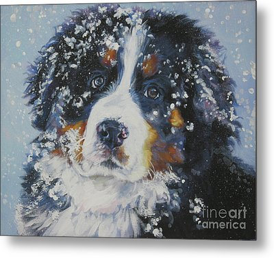 Bernese Mountain Dog Puppy Metal Print by Lee Ann Shepard