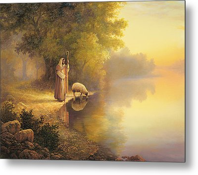 Beside Still Waters Metal Print by Greg Olsen