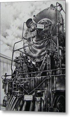 Beside The Floodwall Mikado 1518 Metal Print by Michael Lee Summers