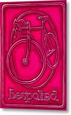 Bespoked In Raspberry  Metal Print by Mark Howard Jones