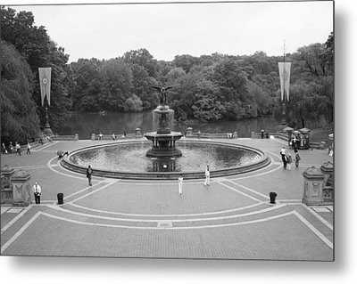 Bethesda Fountain Central Park New York Metal Print by Christopher Kirby