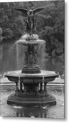 Bethesda Fountain Metal Print by Christopher Kirby