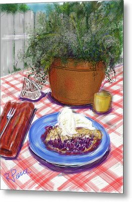 Betsy's Blueberry Pie Metal Print by Russell Pierce