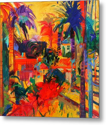 Beverly Hills Metal Print by Peter Graham