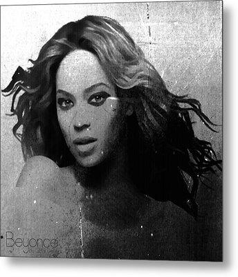 Beyonce Bw By Gbs Metal Print by Anibal Diaz