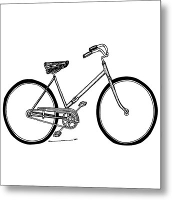 Bicycle Metal Print by Karl Addison
