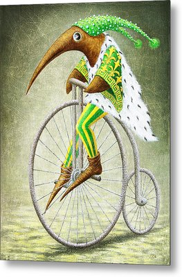 Bicycle Metal Print by Lolita Bronzini
