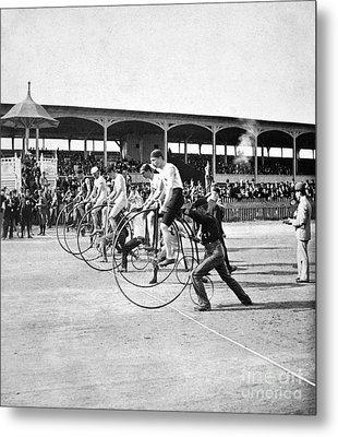 Bicycle Race, 1890 Metal Print by Granger