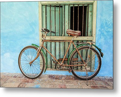 Bicycle, Trinidad Metal Print by Brenda Tharp