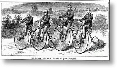 Bicycling, 1873 Metal Print by Granger