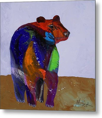 Big Bear Metal Print by Tracy Miller