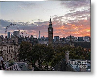 Big Ben London Sunrise Metal Print by Mike Reid