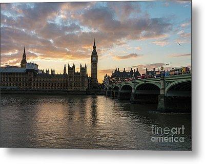 Big Ben London Sunset Metal Print by Mike Reid