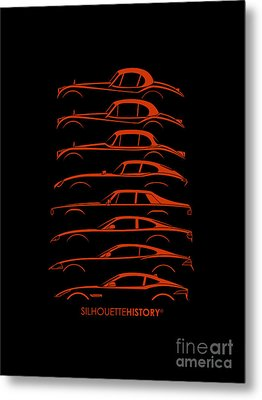 Big Cat Coupe Silhouettehistory Metal Print by Gabor Vida