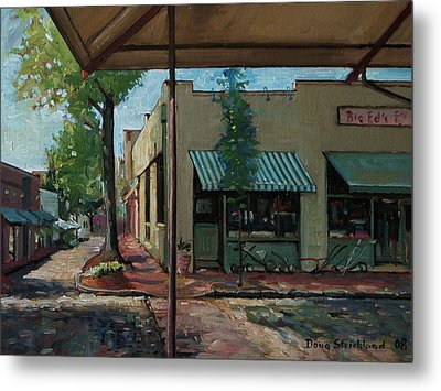 Big Eds Cafe Raleigh Nc Metal Print by Doug Strickland