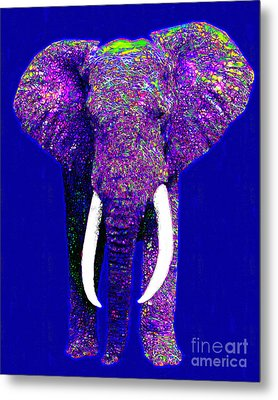 Big Elephant 20130201m118 Metal Print by Wingsdomain Art and Photography