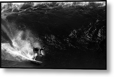 Big Wave Surfing Metal Print by Brad Scott