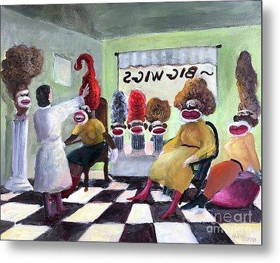 Big Wigs And False Teeth Metal Print by Randy Burns