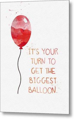 Biggest Balloon- Card Metal Print by Linda Woods