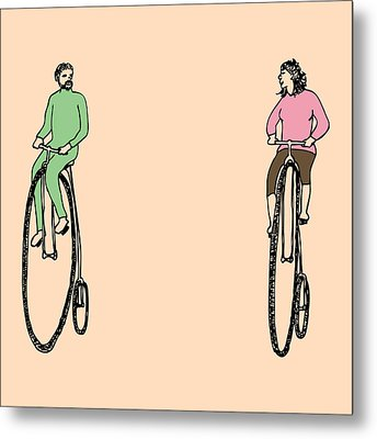 Bike Buddies Metal Print by Karl Addison